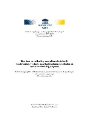 thesis seksueel misbruik