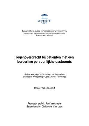 thesis ugent psychologie