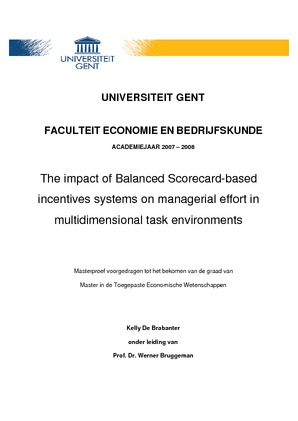 The impact of Balanced Scorecard-based incentives systems on