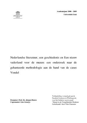 Nederlandse Literatuur Een Geschiedenis En Een Nieuw Vaderland Voor