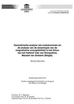 Geometrische analyse van nodulevormen en de analyse van de