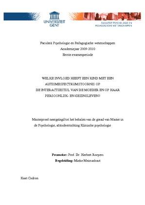 thesis ugent psychologie