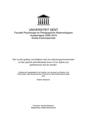 thesis ugent psychologie The department of personnel management, work and organizational psychology at ghent university has vacancies for 3 (fully paid) phd positions in work psychology/ob/hr.