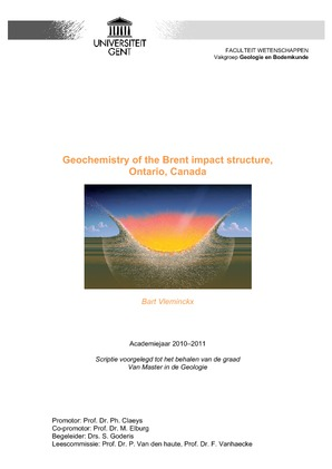 Geochemistry of the Brent impact structure, Ontario, Canada