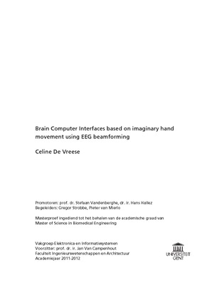 BCI based on imagery hand movement using EEG source localization