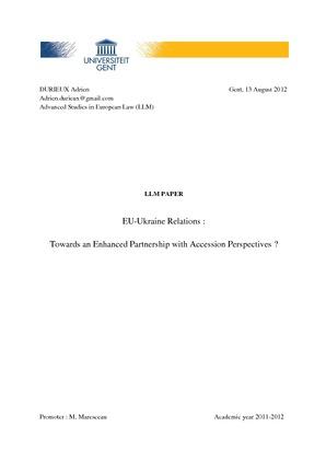 Eu Ukraine Relations Towards An Enhanced Partnership With