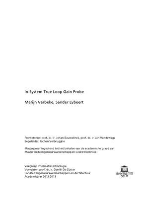 Marijn Verbeke, Sander Lybeert In-System True Loop Gain Probe