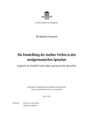 Masterthesis Lennert De Backer