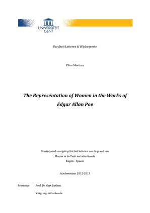 The Representation Of Women In The Works Of Edgar Allan Poe