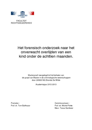 document dat in forensische wetenschap dateert