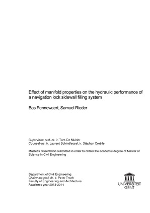 Effect of manifold properties on the hydraulic performance of a ...