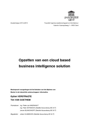 Opzetten van een cloud based business intelligence solution
