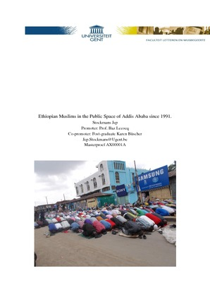 Ethiopian Muslims in the Public Space of Addis Ababa since 1991