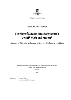 The Use Of Madness In Shakespeares Twelfth Night And Macbeth