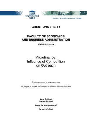 microfinance influence of competition on outreach