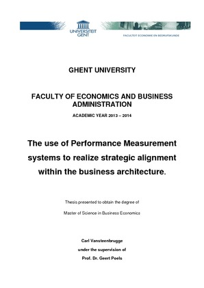 The use of Performance Measurement systems to realize