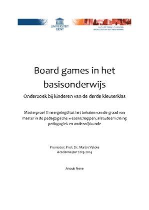Board Games In Het Basisonderwijs