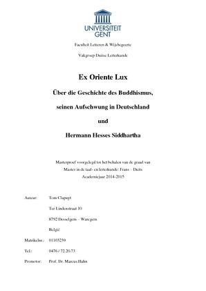 Ex Oriente Lux