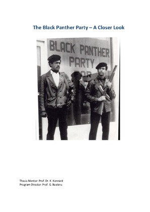 the black panther party a closer look