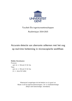 opbouw thesis ugent