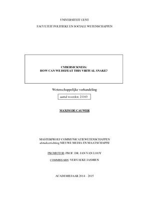 thesis ugent communicatiewetenschappen