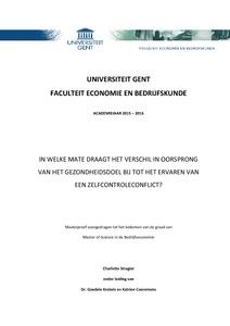 thesis bedrijfseconomie ugent