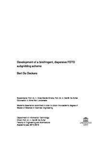Bert De Deckere subgridding scheme Development of a