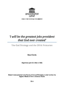 I will be the greatest jobs president that God ever created'