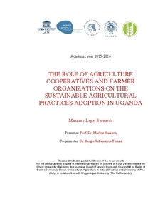 THE ROLE OF AGRICULTURE COOPERATIVES AND FARMER