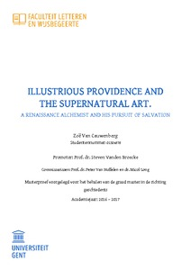 ILLUSTRIOUS PROVIDENCE AND THE SUPERNATURAL ART