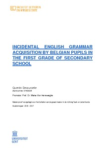 INCIDENTAL ENGLISH GRAMMAR ACQUISITION BY