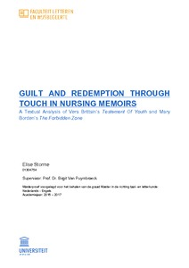 GUILT AND REDEMPTION THROUGH TOUCH IN NURSING MEMOIRS