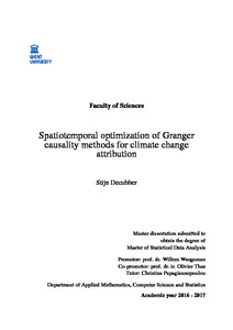 Spatiotemporal optimization of Granger causality methods for