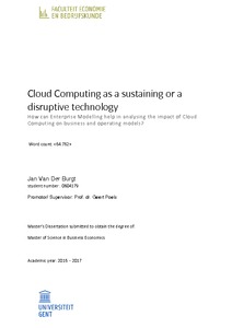 Cloud Computing as a sustaining or a disruptive technology