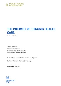 THE INTERNET OF THINGS IN HEALTH CARE