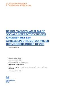 c7518e2a4ef DE ROL VAN GESLACHT BIJ DE SOCIALE INTERACTIES TUSSEN ...