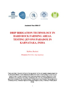 DRIP IRRIGATION TECHNOLOGY IN HARD ROCK FARMING AREAS