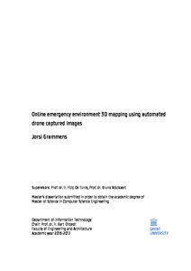 Online emergency environment 3D mapping using automated