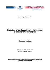 Evaluation of cerclage wiring in the treatment of ... on