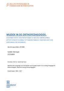 Muziek In De Orthopedagogiek