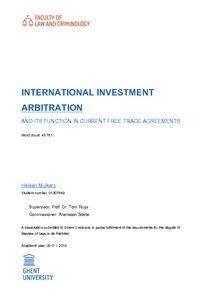 INTERNATIONAL INVESTMENT ARBITRATION