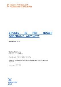 Engels In Het Hoger Onderwijs Why Not
