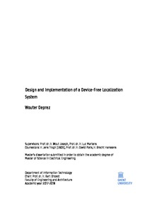 Wouter Deprez System Design and Implementation of a Device
